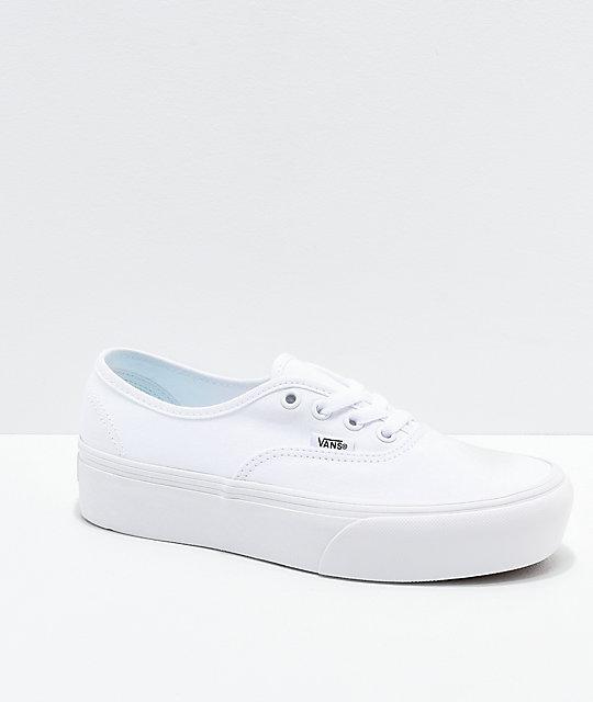 5fc22bd06 Vans Authentic True White Platform Shoes | Zumiez
