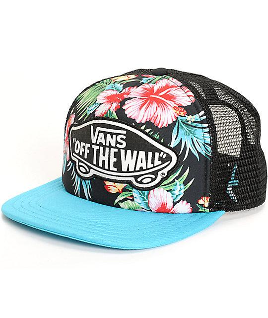 aaf1a448251ccf Vans Beach Girl Hawaiian Floral Trucker Hat | Zumiez