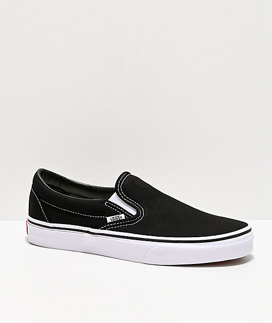 6b25f56fe98c Vans Classic Slip On Black & White Shoes | Zumiez