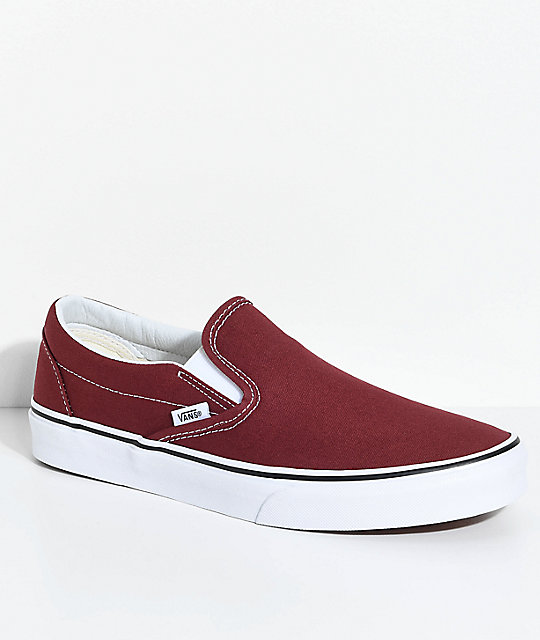 eaf938f479411a Vans Classic Slip-On Madder Brown Skate Shoes