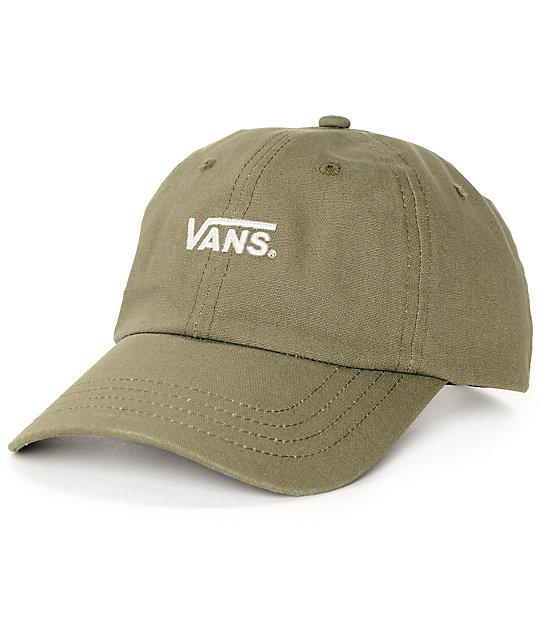 7af40e42b6 Vans Court Olive Baseball Hat