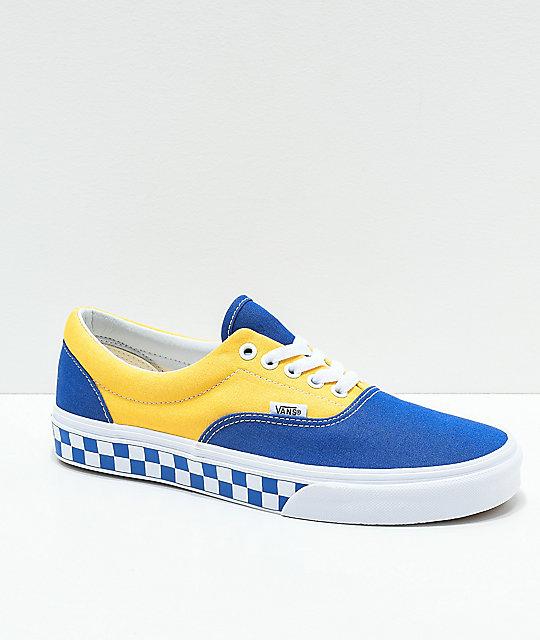 Zapatos AzulAmarillo Era Vans Blanco En Y A Cuadros Bmx De Skate yb6gIfvY7m