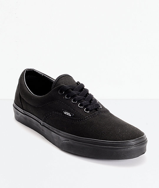 le dernier 9dbe3 d00a6 Vans Era Classic All Black Skate Shoes