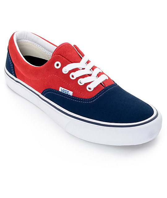 1e7fe0bd8f Vans Era Pro 50th Navy and Red Skate Shoes