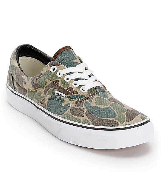 7eea6427c1dc6 Vans Era Van Doren Camo Canvas Skate Shoes | Zumiez