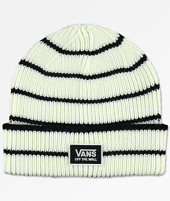 be161b3e Vans Falcon Marshmallow & Black Beanie | Zumiez