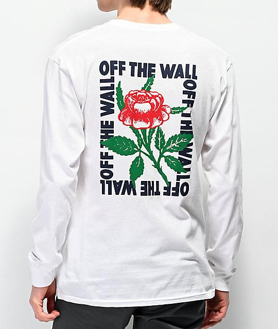 36c240e04c Vans Fluorescent Rose White Long Sleeve T-Shirt