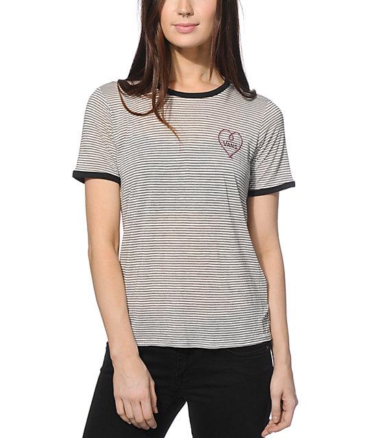 a522590e852d2a Vans Heart Drop V Ringer T-Shirt