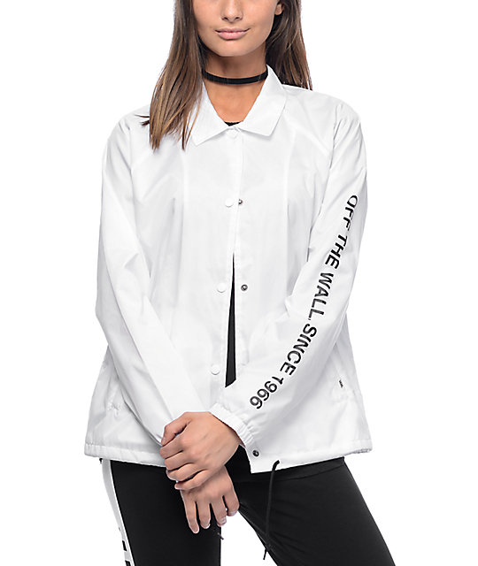 Vans Otw 66 White Coaches Jacket Zumiez