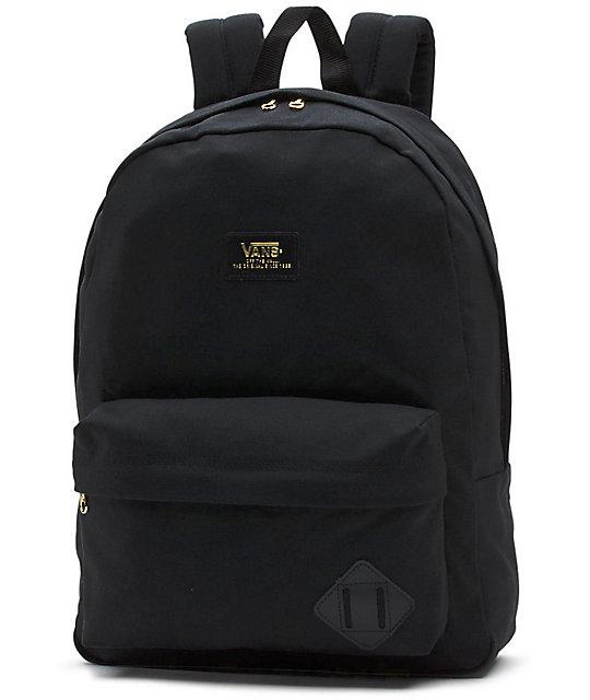 mochila negra de vans