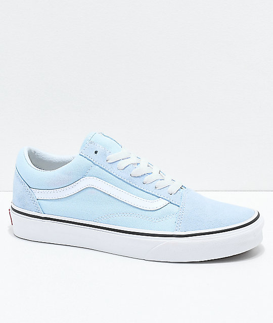 18a84790d4 Vans Old Skool Baby Blue   True White Shoes
