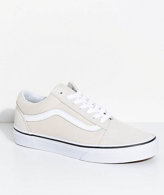 e9445a74ace Vans Old Skool Birch   True White Skate Shoes