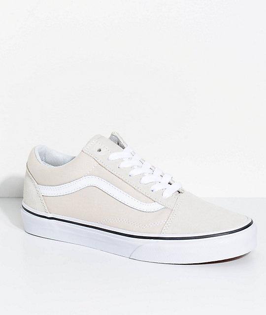 533c6fc95c67 Vans Old Skool Birch   True White Skate Shoes
