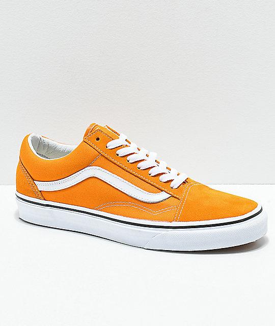 huge discount b52dc 345a2 Vans Old Skool Cheddar   White Skate Shoes ...