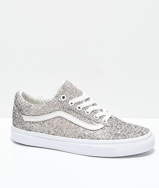 561da605073c Vans Old Skool Chunky Glitter Skate Shoes | Zumiez