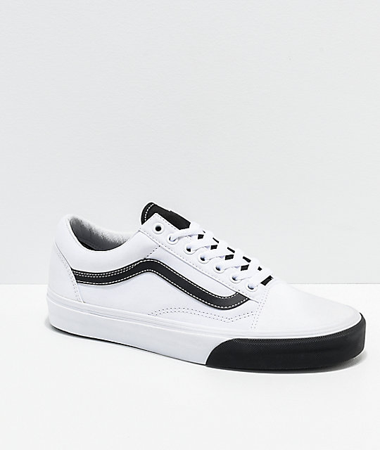 8b51aaba7f Vans Old Skool Color Block Black & White Skate Shoes | Zumiez