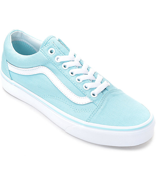 Vans Old Skool Crystal Blue   White Canvas Shoes  21a5d398468