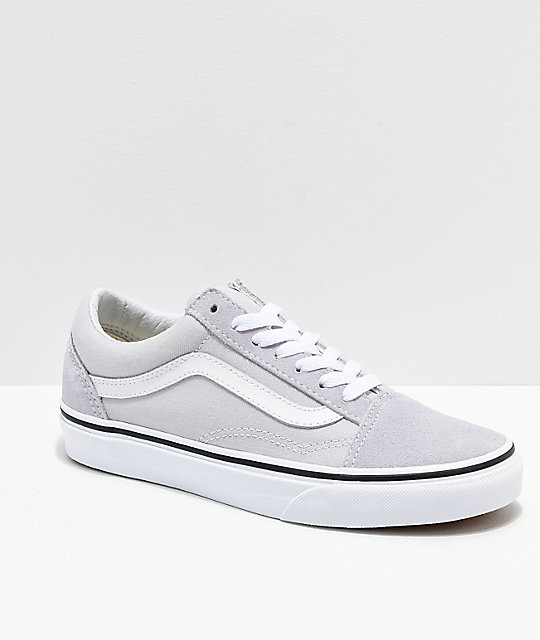 Vans Old Skool Dawn zapatos de skate en gris y blanco ... e42e14db425