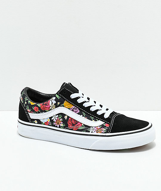 ed283cc6721 Vans Old Skool Digi Floral Skate Shoes