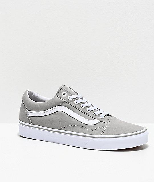 Vans Old Skool Pro Drizzle Grey Skate Shoes Grey, Mens Skate Shoes Mens, Skate Shoes