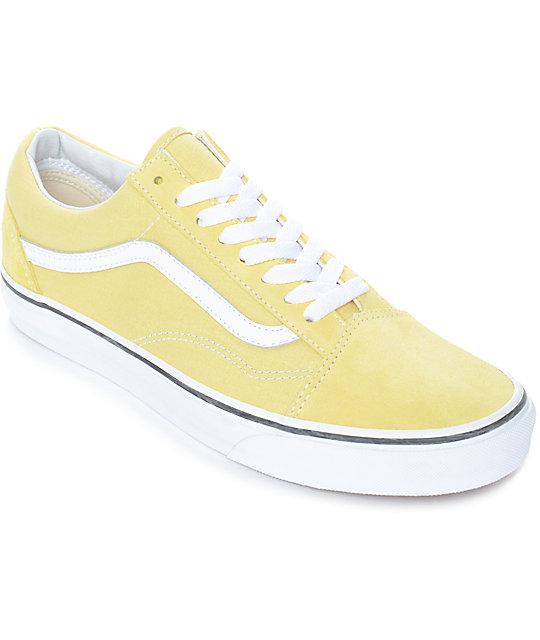 ba4d95c6126f Vans Old Skool Dusty City Yellow & White Skate Shoes | Zumiez