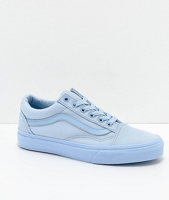 Vans Old Skool Mono Sky Blue Skate Shoes  8c4a44d01