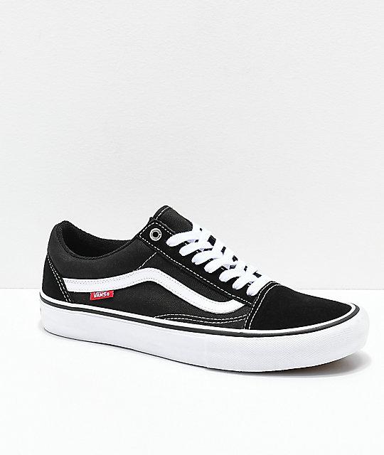 Vans Old Skool Pro Shoes BlackWhite