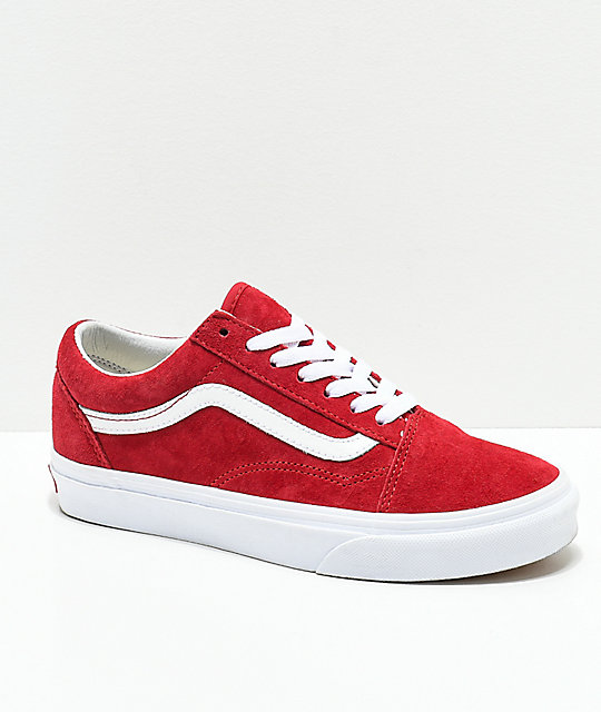 Vans Old Skool Scooter Red   True White Shoes  d389bb0bf