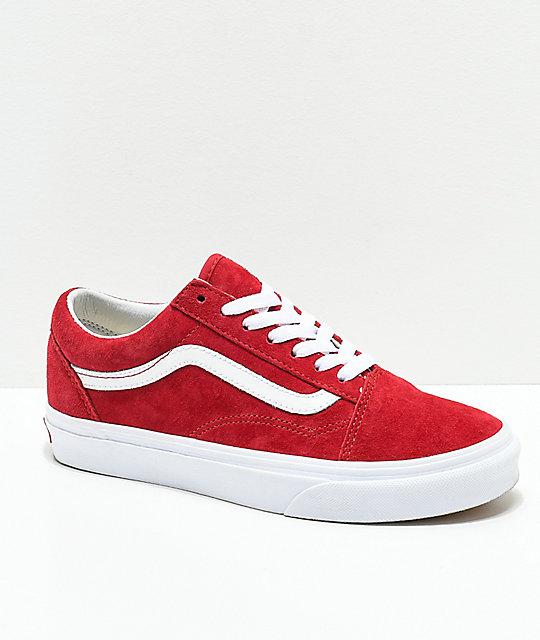 Vans Old Skool Scooter zapatos rojos y blancos ... 21bc0b46f6