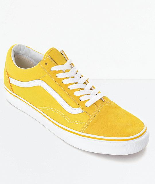 dbf9d38eb Vans Old Skool Spectra zapatos de skate en amarillo y blanco ...