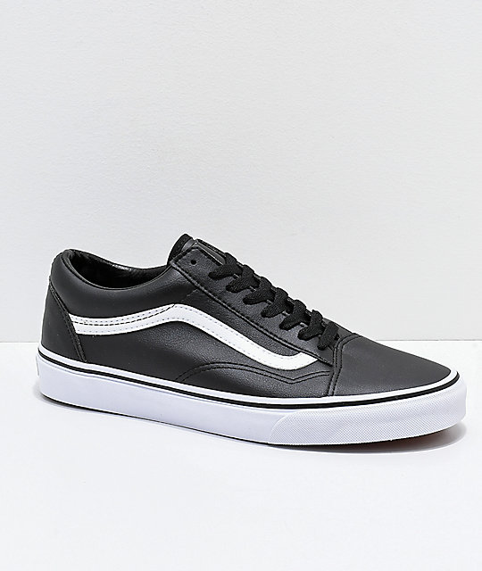 free shipping eaf67 fdceb old school nere leather vans