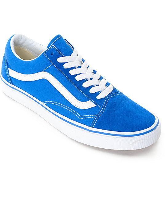 Y Blanco Old Azul Zapatos De Skate Vans Skool En 1FJlKc3T