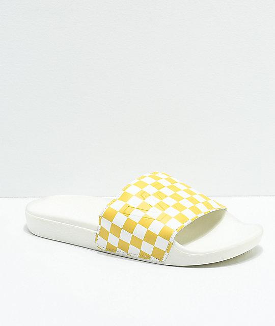 2478a44c5caa Vans Pineapple Checkerboard Slide-On Sandals | Zumiez