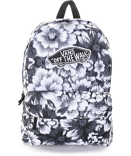 vans backpacks for girls Vans Realm Mono Floral Backpack | Zumiez vans backpacks for girls