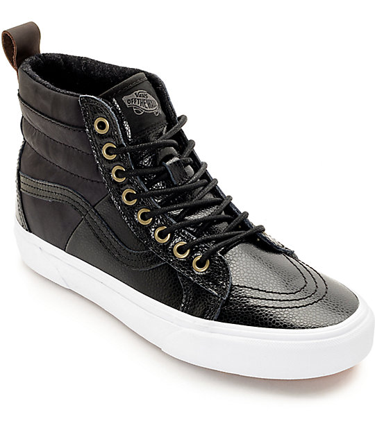 6d9d5659587d86 Vans Sk8-Hi 46 MTE Black Shoes Womens