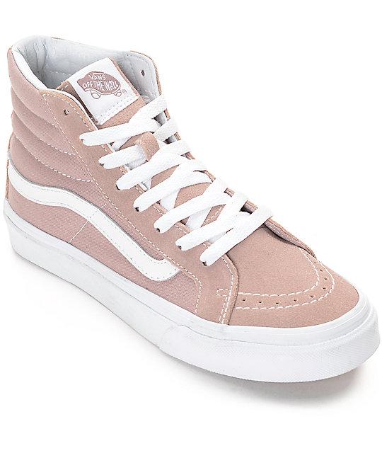 Vans Sk8-Hi Fawn Mauve Womens Skate Shoes  1a84fd8a78ab