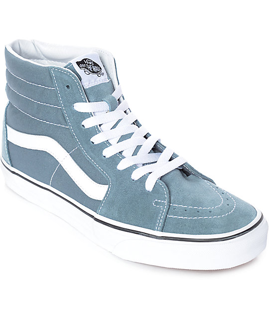 b3fc4132eba2 Vans Sk8-Hi Goblin Blue-Grey   White Skate Shoes