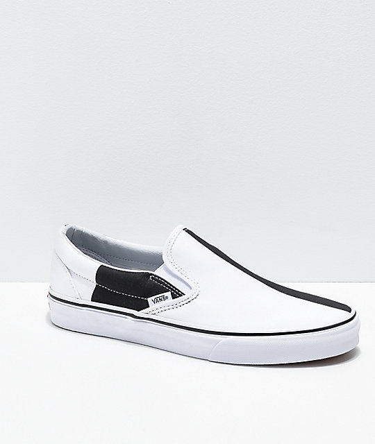 e7201adf451a Vans Slip-On Mega Checker Black & White Skate Shoes | Zumiez