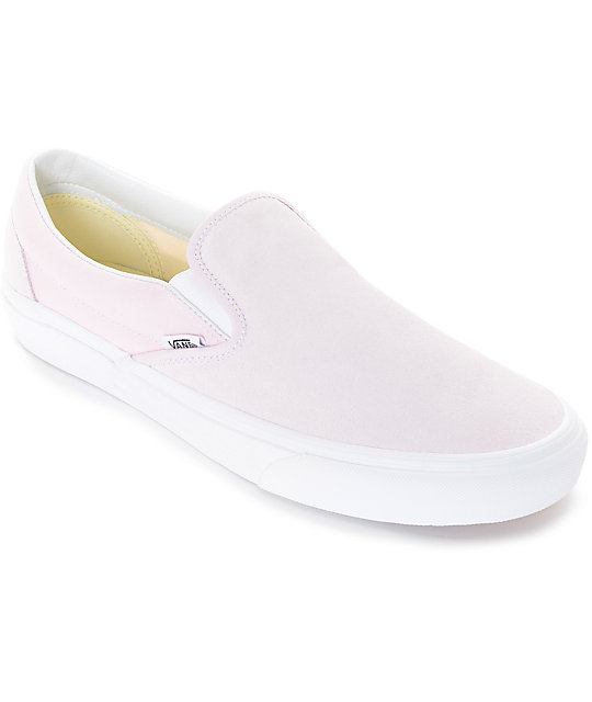462f8f9c01 Vans Slip-On Pastel Pink Skate Shoes