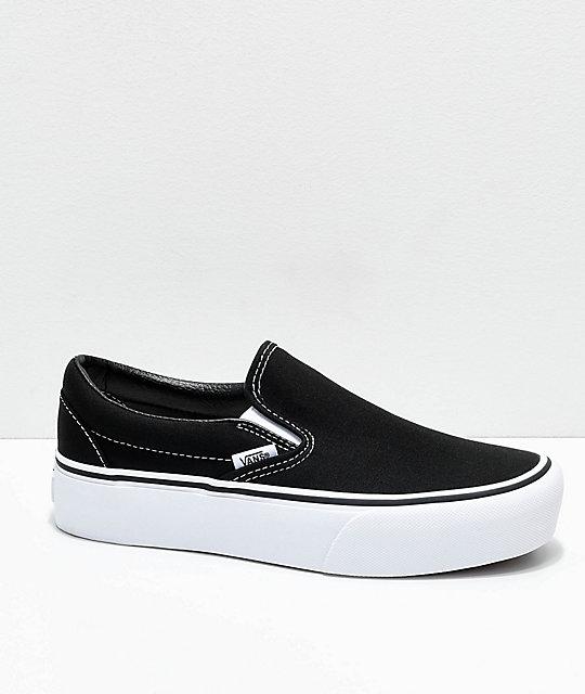 Vans Zumiez Slip De Blanco Con Negro Y Plataforma Skate En Zapatos On 77qxwpr