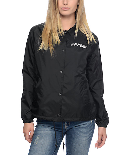 Vans Thanks Black Coaches Jacket Zumiez