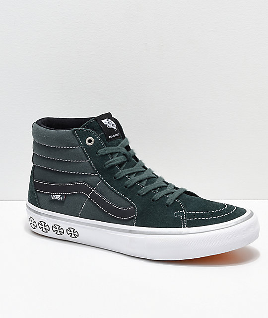 f872e3a9aacb Vans x Independent Sk8-Hi Pro Spruce Green Skate Shoes