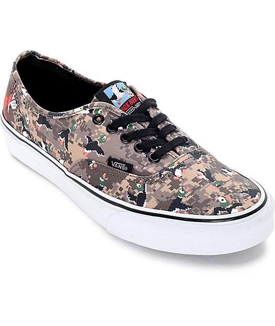 3a03df3ba38 Vans x Nintendo Authentic Duck Hunt Camo Skate Shoes