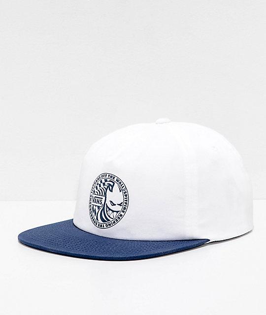 281ea1a9 Vans x Spitfire White & Blue Snapback Hat   Zumiez