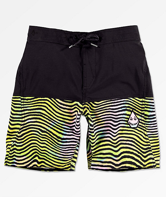 3d25ddbb868 Volcom Boys Vibes Elastic Waist Black Boardshorts | Zumiez