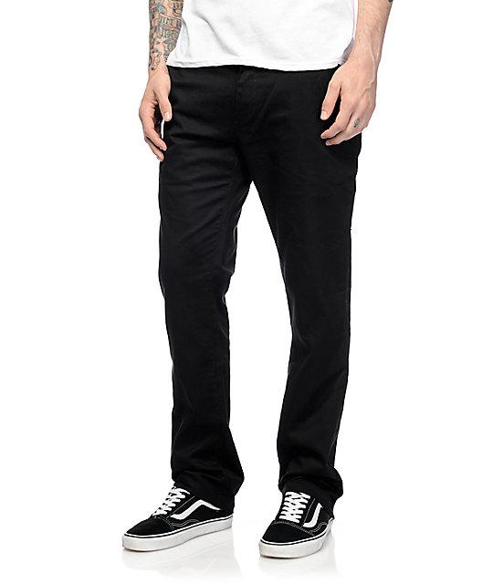 631b321cf23fbb Volcom Frickin Modern Black Stretch Chino Pants   Zumiez