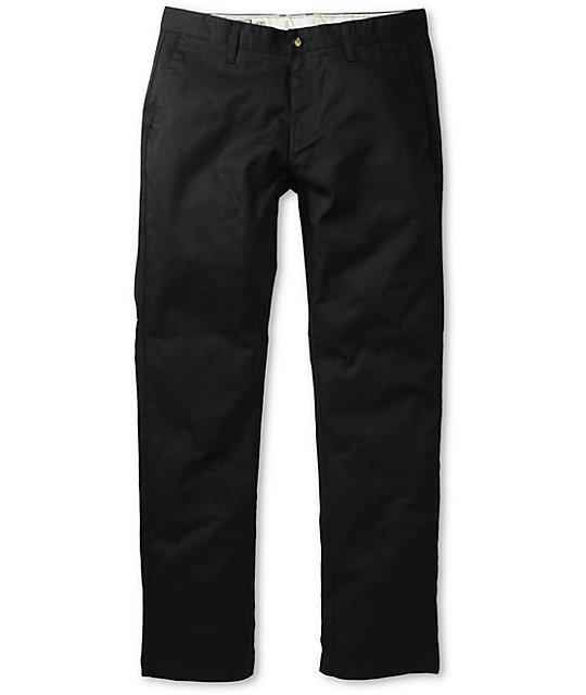 35cca72975b2f8 Volcom Frickin Modern Fit Black Stretch Chino Pants   Zumiez