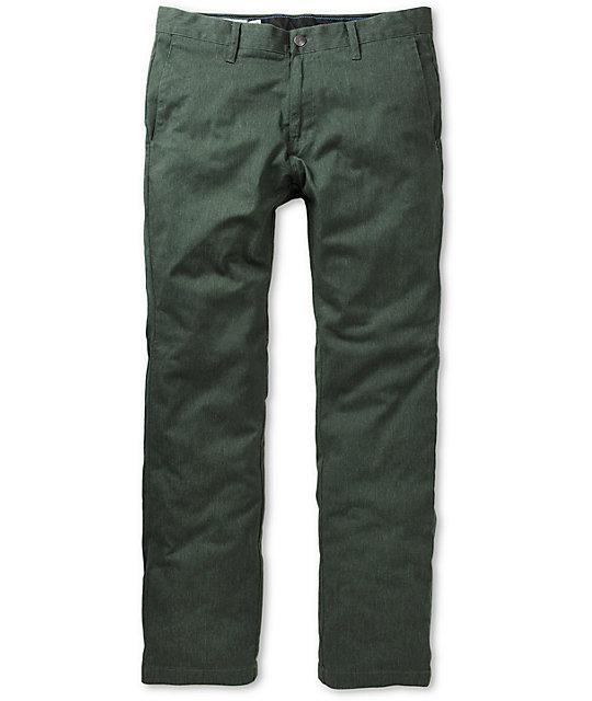 cfbe6477 Volcom Frickin Modern Slim Fit Green Chino Pants | Zumiez