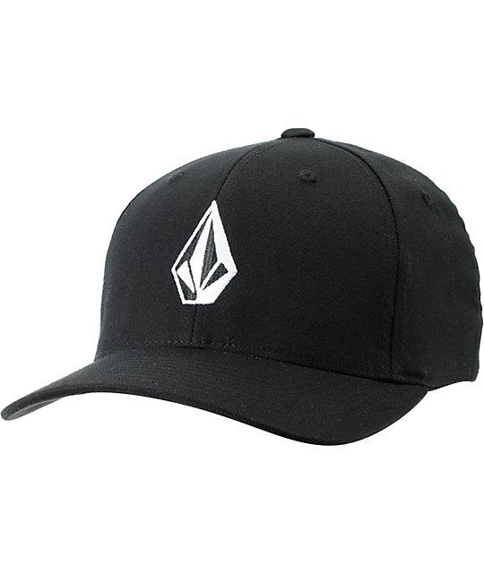 separation shoes daccc 87e8d Volcom Full Stone Black Flexfit Hat   Zumiez
