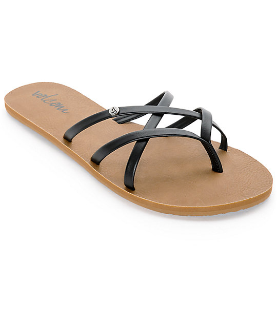 New School School Volcom Volcom New Sandals Black nXZ80NkwOP